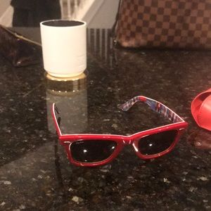 Red limited edition ray bans